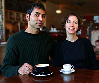 Gregory Dicum and Nina Luttinger, the authors of The Coffee Book